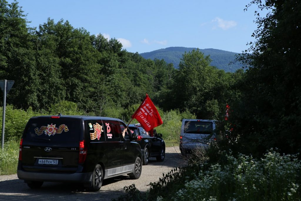 Автопробег по местам боевой славы, организованный Госавтоинспекцией прошел на Кубани